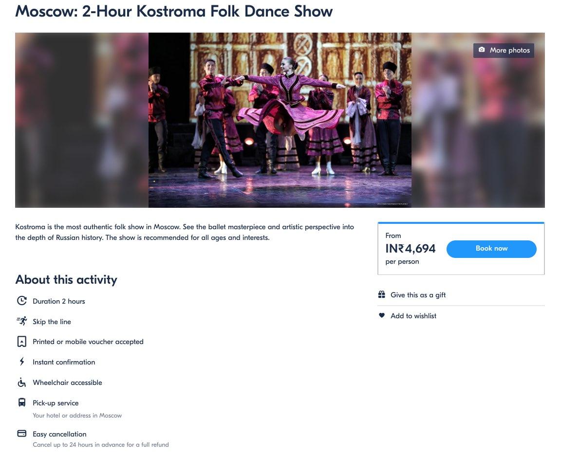 Kostroma Folk Dance Show in Moscow