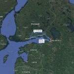 Map for going from Helsinki to St. Petersburg - Google maps