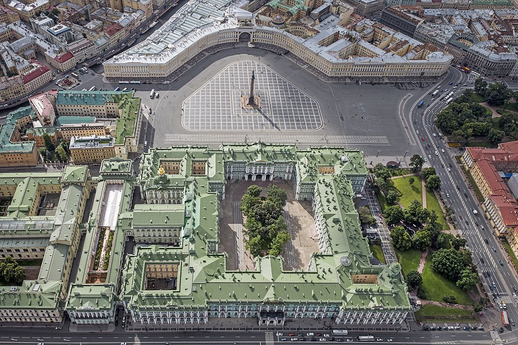 St. Petersburg Palace Square - center of the city